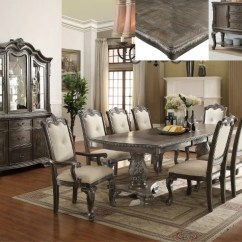 Formal Living Room Set Small Chandeliers For 7 Pc Kiera Grey Dining Mindys Home Goods