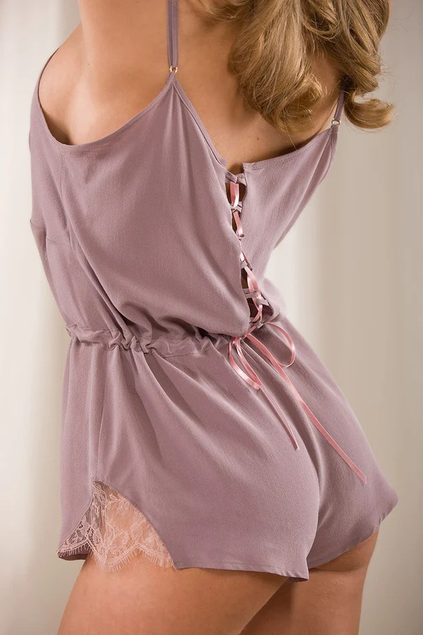 Plaisir silk crpe de Chine teddy  Myriam Girard