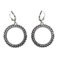 La Vie Parisienne Faceted Clear Crystal Earrings  Sheva ...