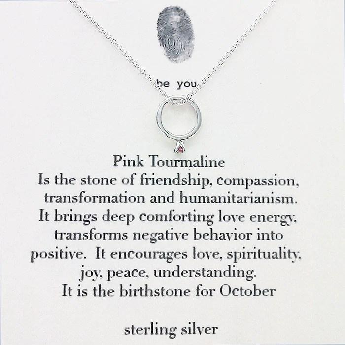 B U October Birthstone Pink Tourmaline Necklace – Sheva