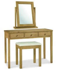 ATLANTA OAK VANITY MIRROR / DRESSING TABLE / STOOL - Ideal ...