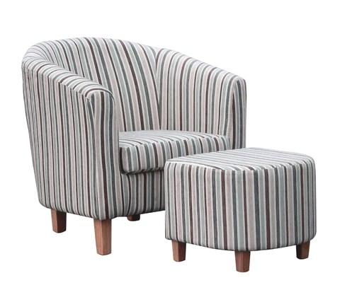 blue striped sofa uk gold mitchell sofas ideal furnishings duck egg stripe tub chair