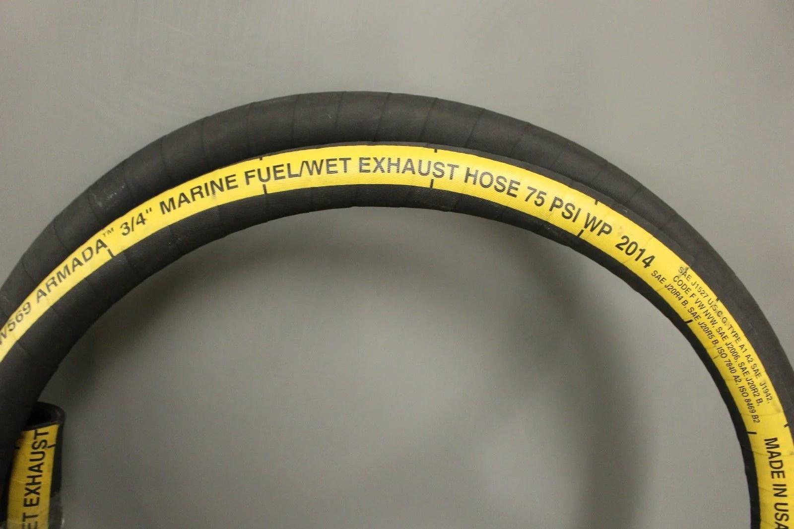 parker sw569 750 marine fuel wet exhaust hose 11 roll