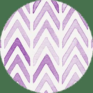 chevron purple label