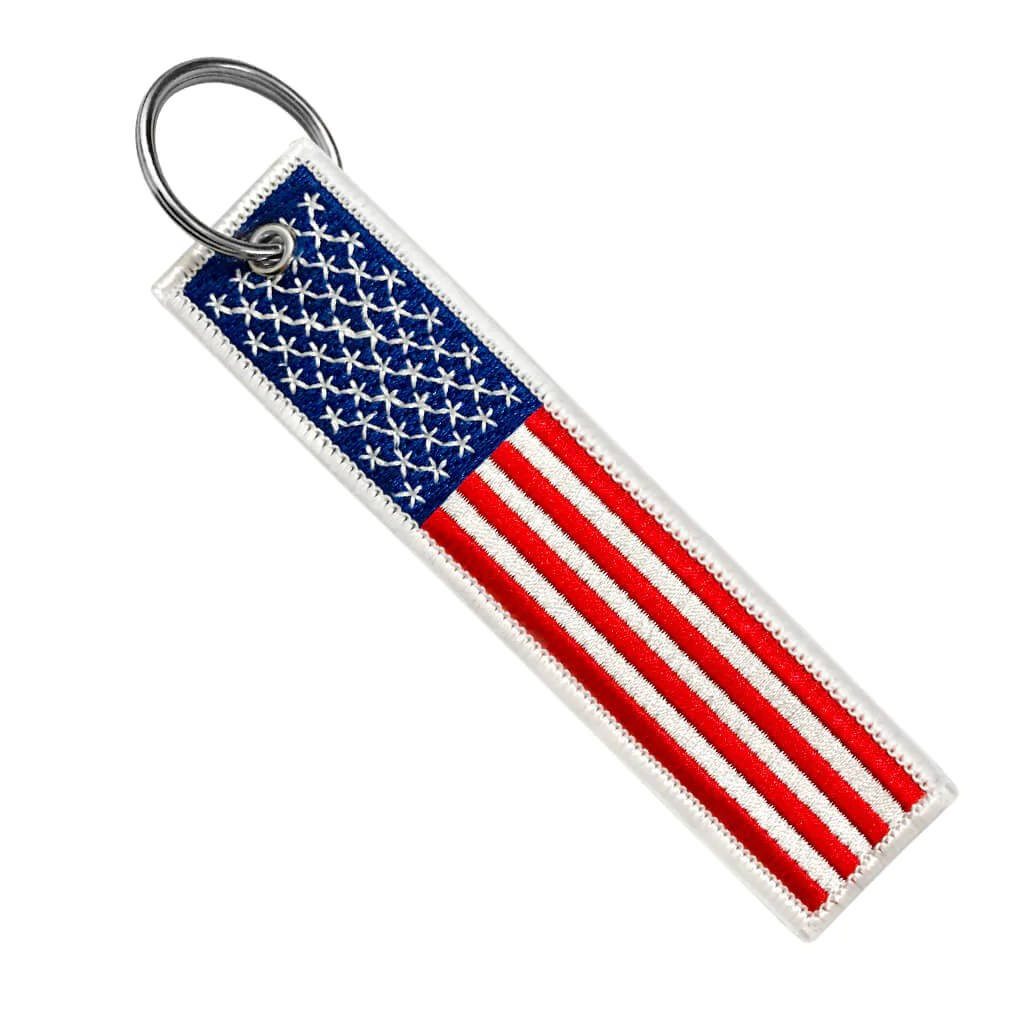 United States Of America Flag Motorcycle Keychain Moto Loot