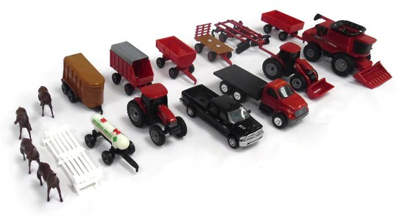 44091 1 64 Case Ih 20 Pc Farm Toy Playset Action Toys