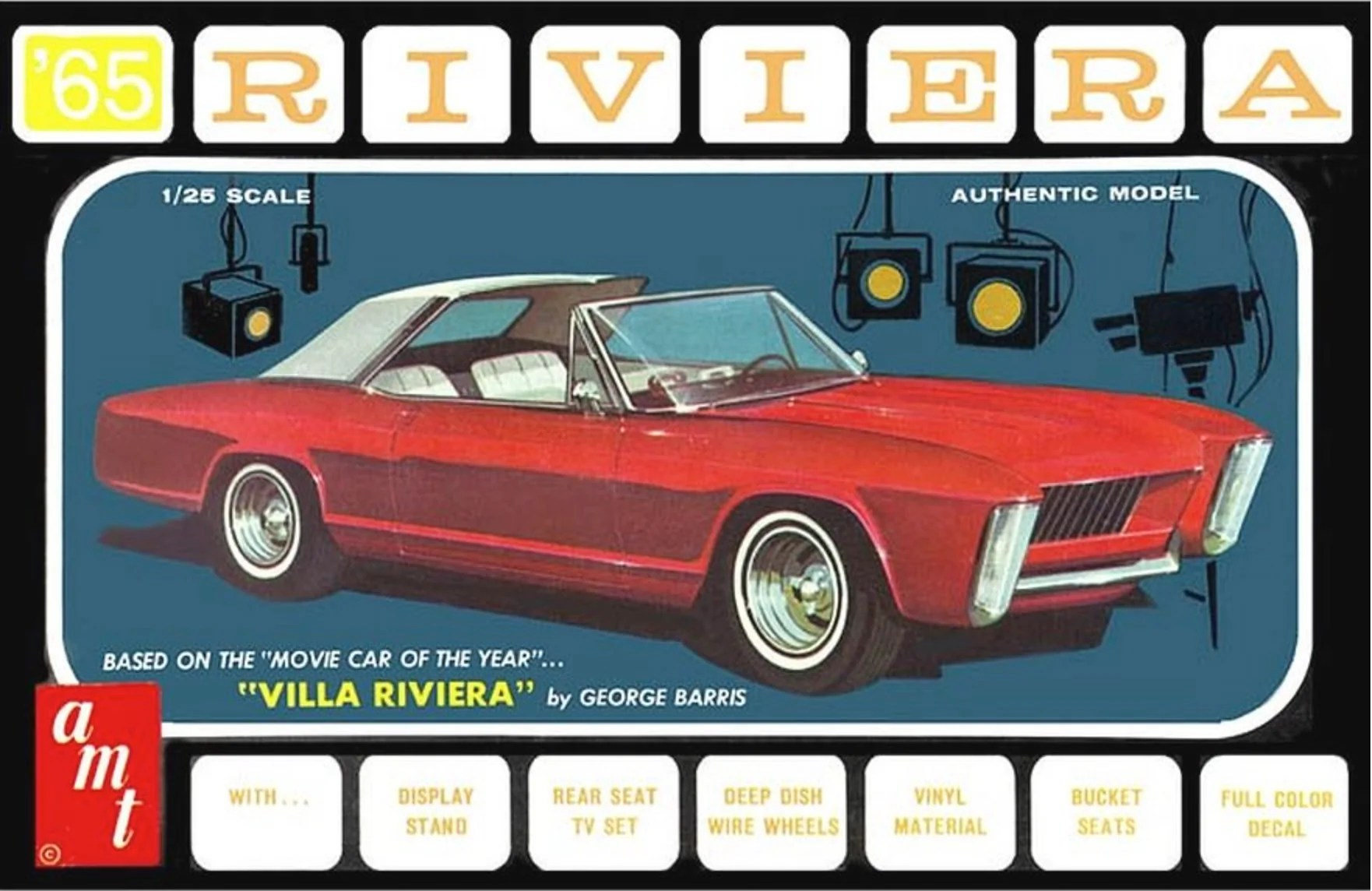 hight resolution of amt 1121 1965 buick riviera 3 in 1 w villa riviera parts plastic model kit 1 25
