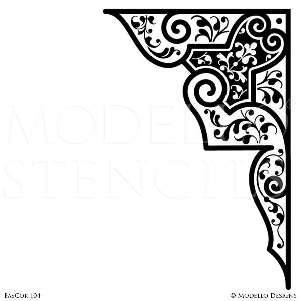 corner stencils custom painted