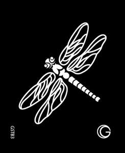 dragonfly hd stencil - glimmer