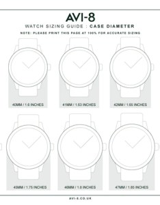 Watch size chart av avi watches also frodo fullring rh