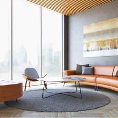 Crescent Sofa Leather Bantam Modern Living Room Furniture Dallas Tx And Orlando Fl