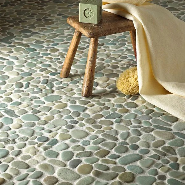 Green Pebble Tile Pebble Flooring Perfected Beyond Tile