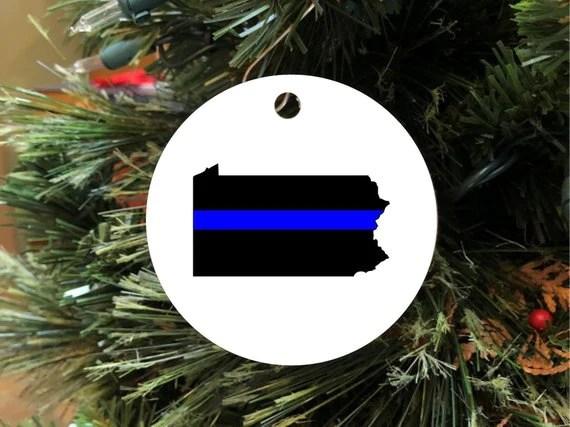 Law Enforcement Christmas Ornaments