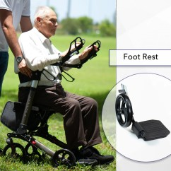 Walker Roller Chair Cheap Metal Chairs New Go Perfect Double Foldable Adult Mobility Rollator With Forearm