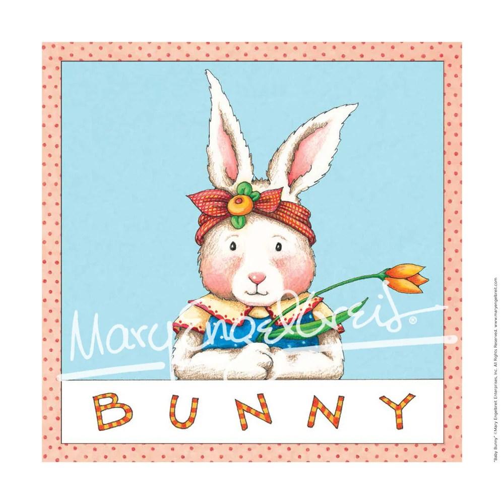 Bunny Fine Print Mary Engelbreit
