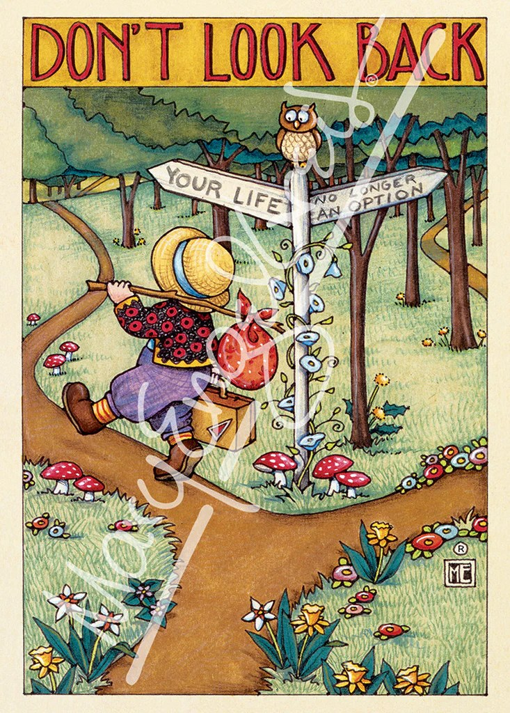 Dont Look Back Greeting Card Mary Engelbreit