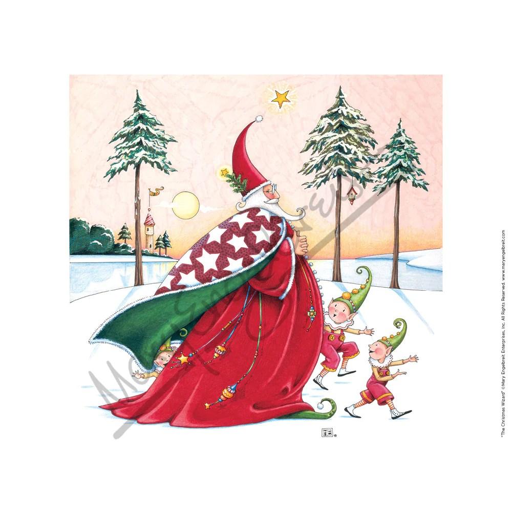 The Christmas Wizard Fine Print Mary Engelbreit