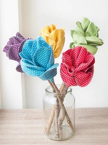 Beautiful Fabric Flowers - Easy Sewing Tutorial