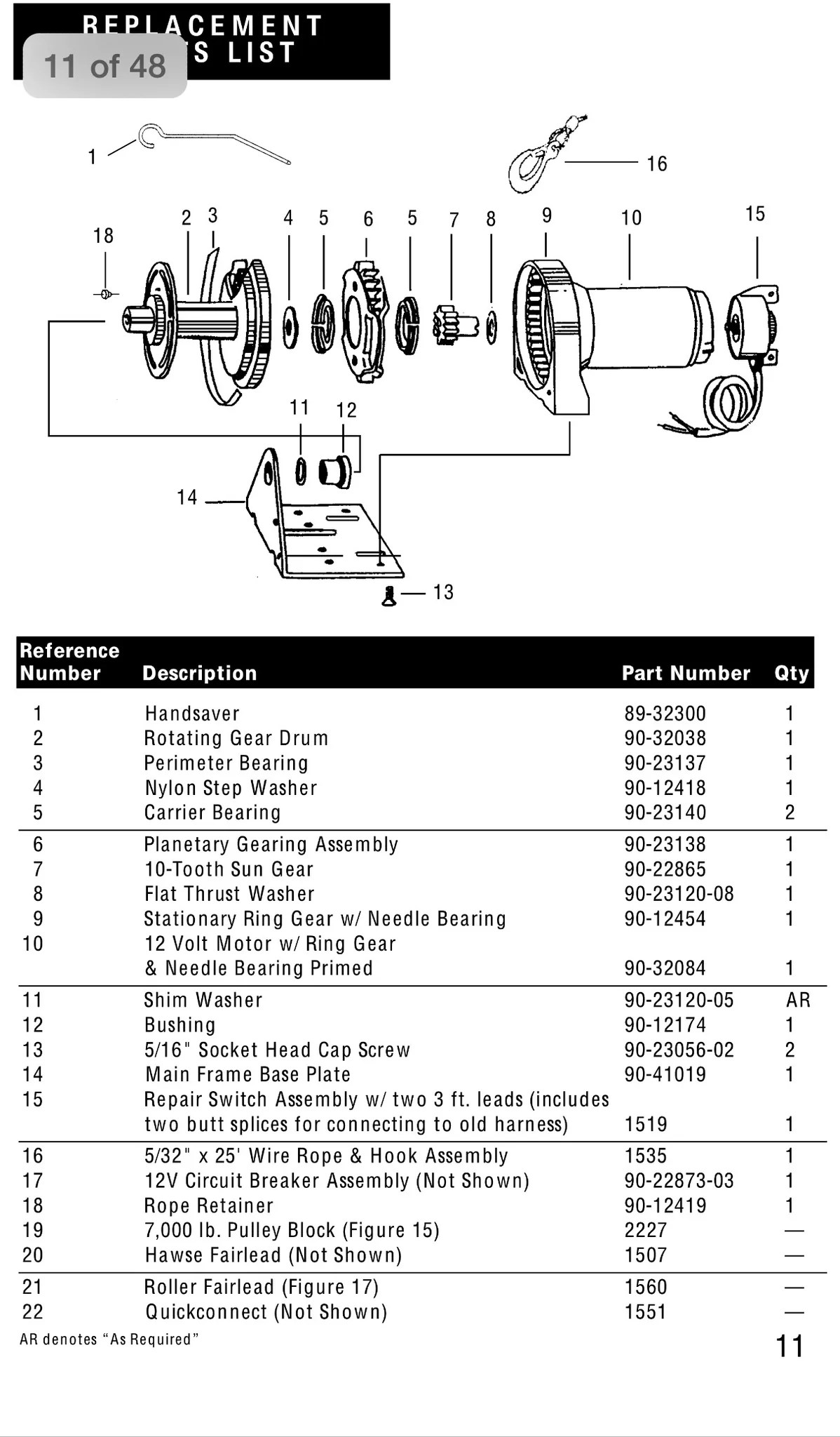 small resolution of superwinch replacement motor for ex1 superwinch atv wiring diagram superwinch parts diagram