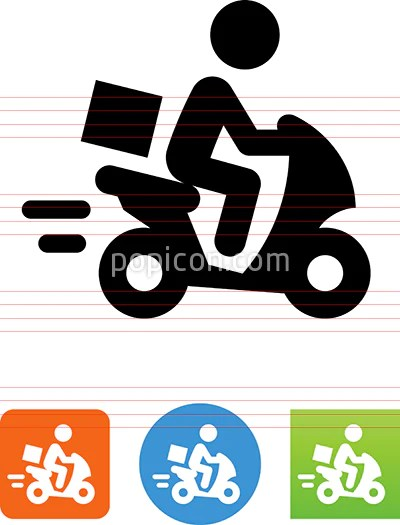 moped scooter delivery icon