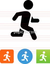 Person Running Athlete Vector Icon Popicon