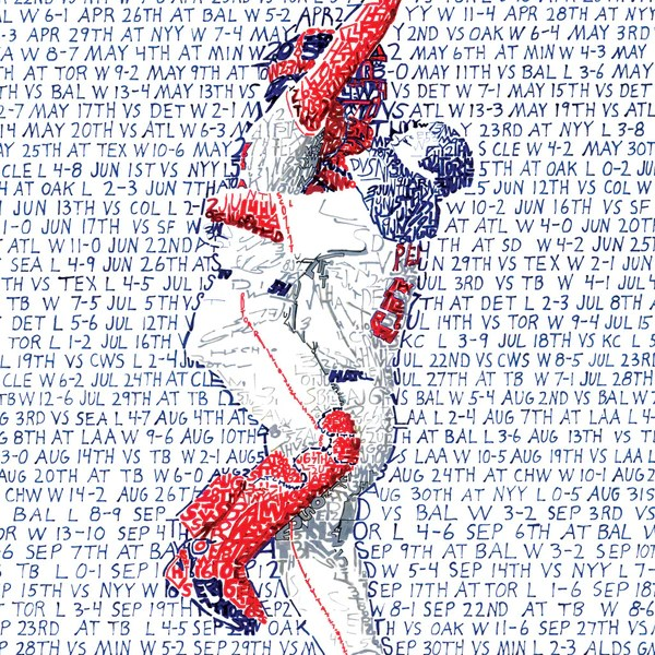 2007 Boston Red Sox World Series Word Art Print Art of Words