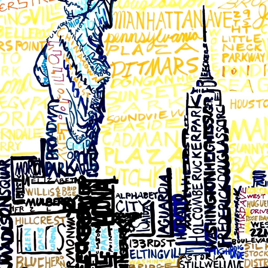 New York City Skyline Word Art Print Art of Words