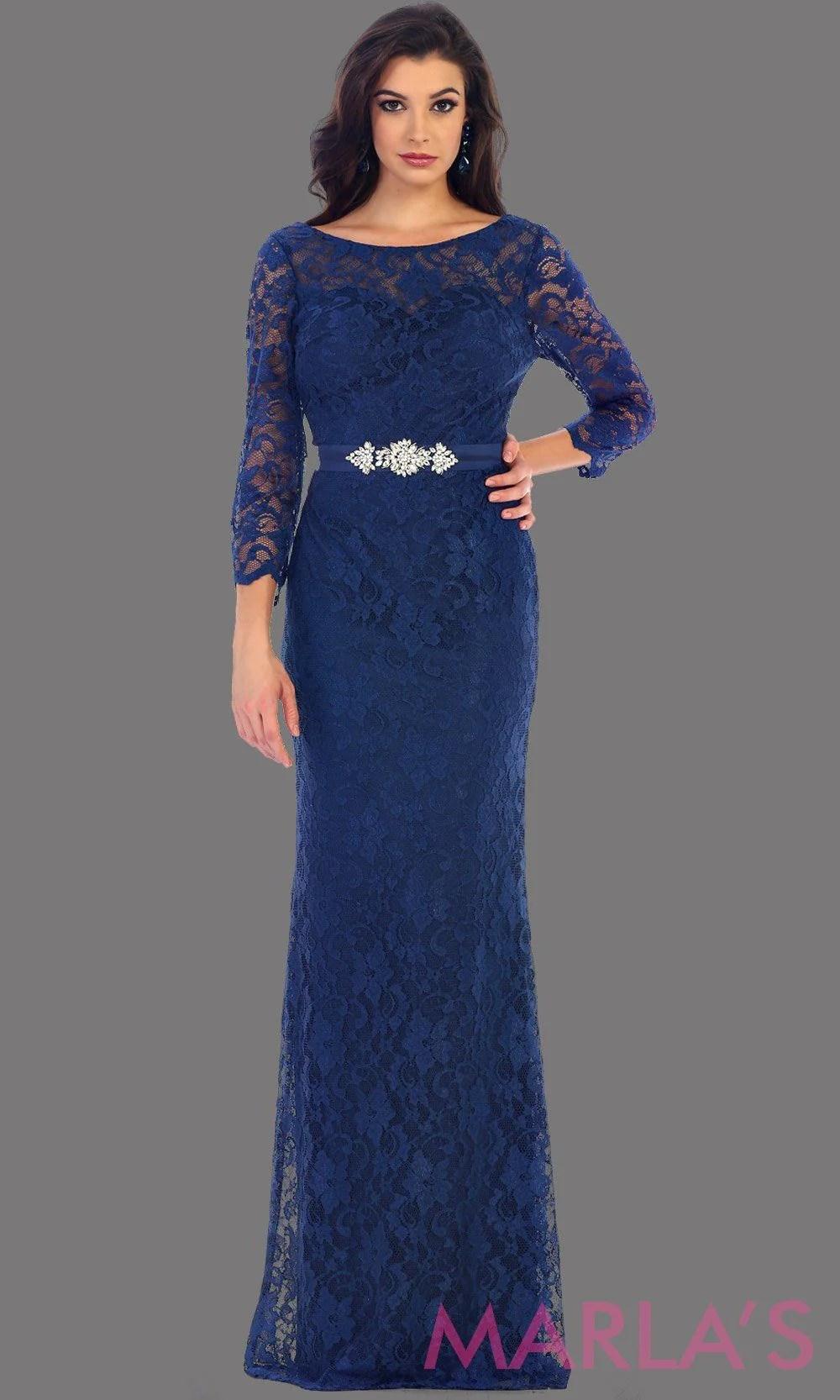 Blush Long Sleeve Lace Dress - 1454.13l Marlasfashions