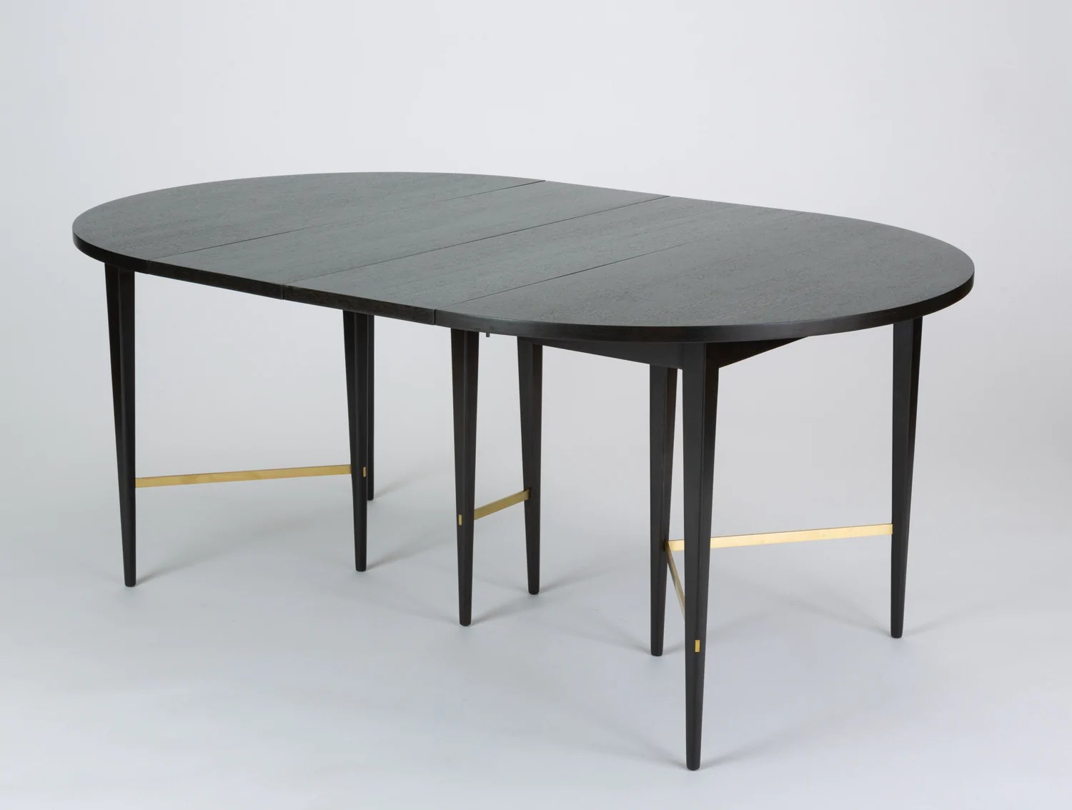Paul Mccobb Chairs Ebonized Dining Table With Six Leaves By Paul Mccobb For Calvin Furniture