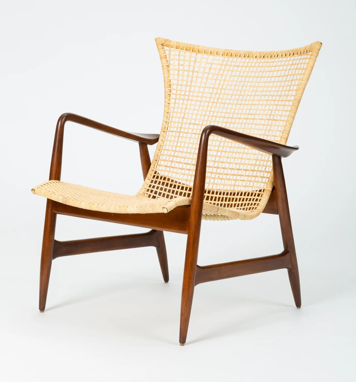 Selig Chair Lounge Chair With Cane Seat By Ib Kofod Larsen For Selig