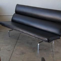 Eames Sofa Compact Knockoff White Slipcover For Armless Herman Miller  Den Møbler