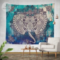 Boho Elephant Tapestry, Ganesh Elephant wall hanging ...
