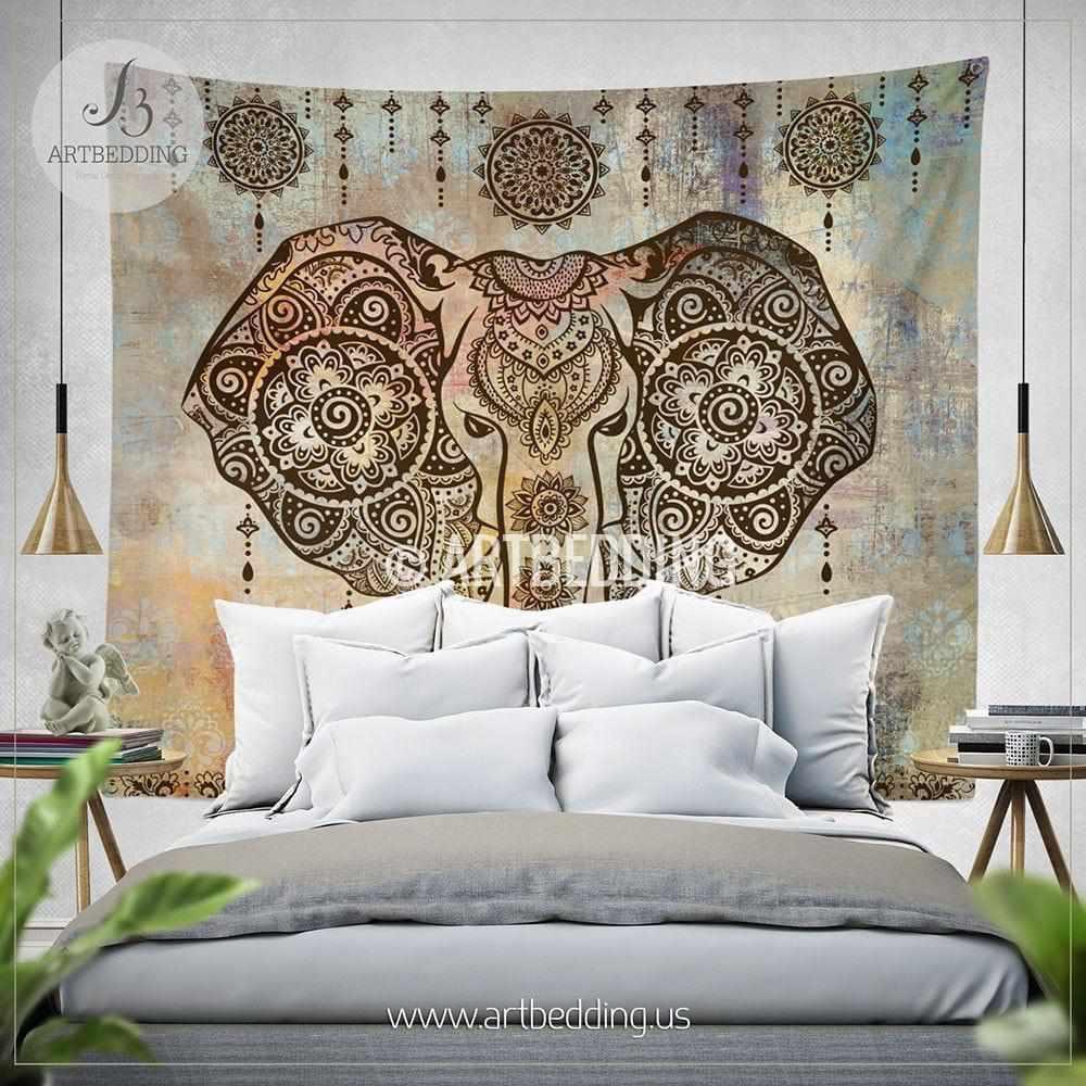 boho elephant tapestry ganesh