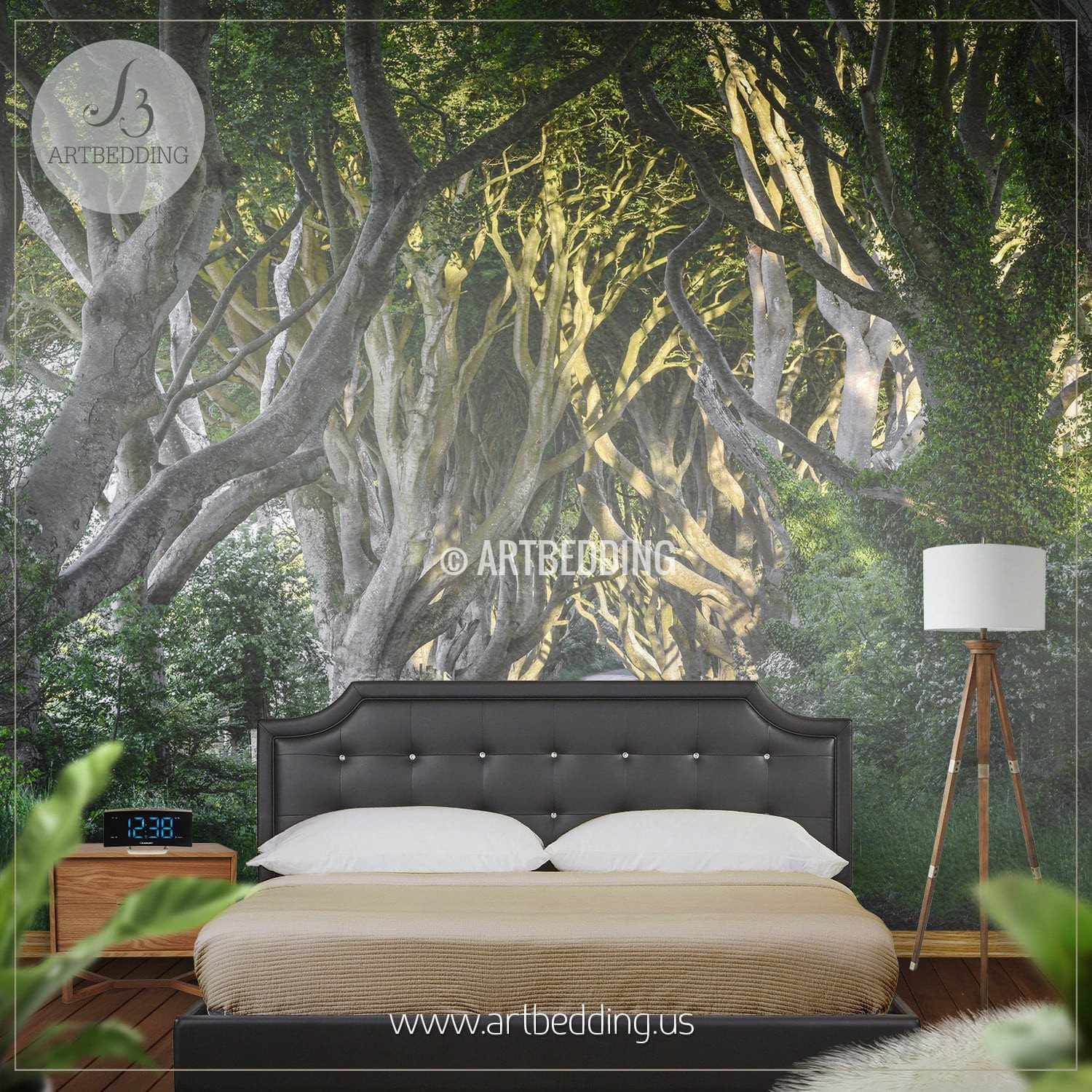 Route Forest Adhesive Mural - Artbedding