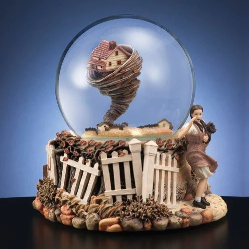 Collectible Wizard of Oz Spinning Tornado in a Water Globe Music Box  Snyders Candy