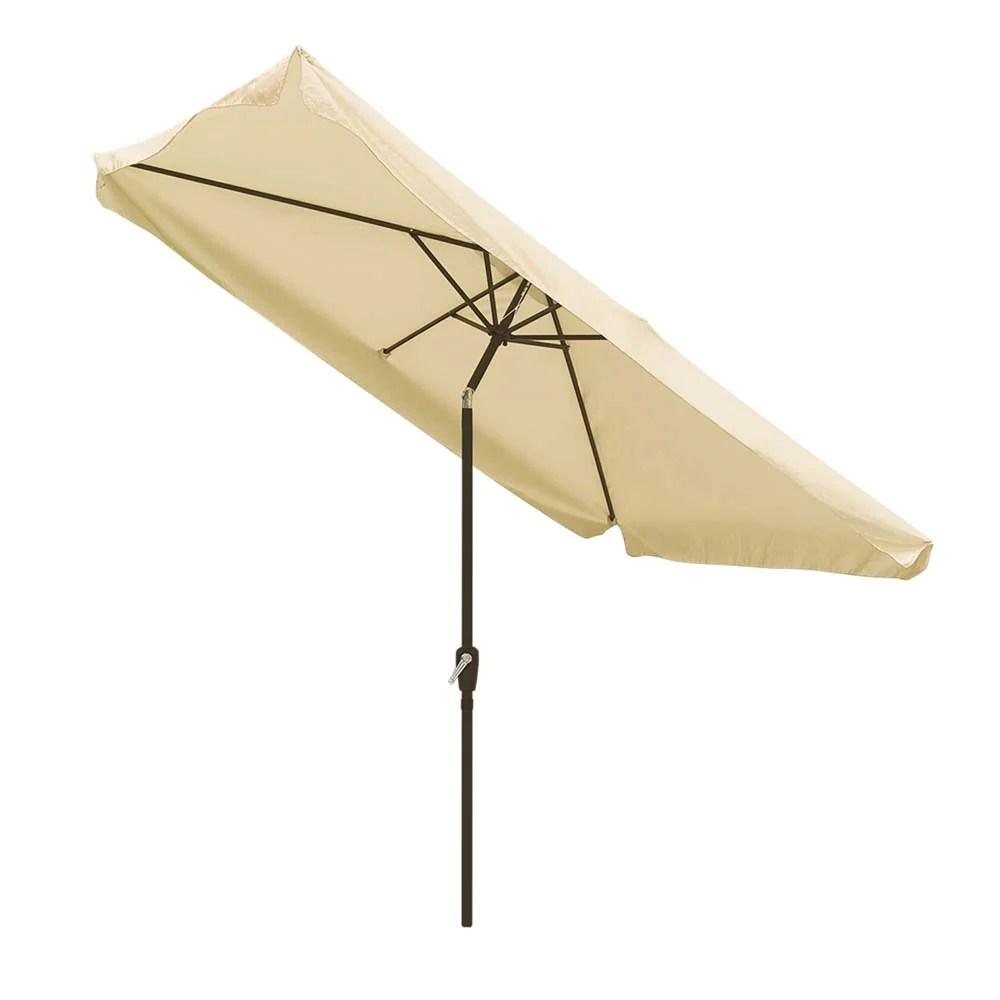 yescom 10x6 5 ft patio rectangular market umbrella tilt multiple colors