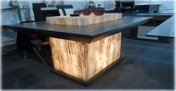 Mesa de onix cuadrado para comedor modelo Liz  CG Muebles