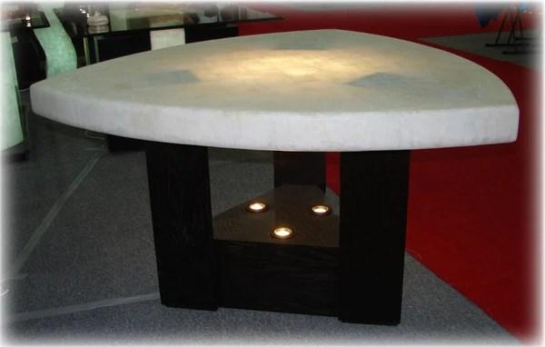 Mesa de onix triangular para comedor modelo C5  CG Muebles