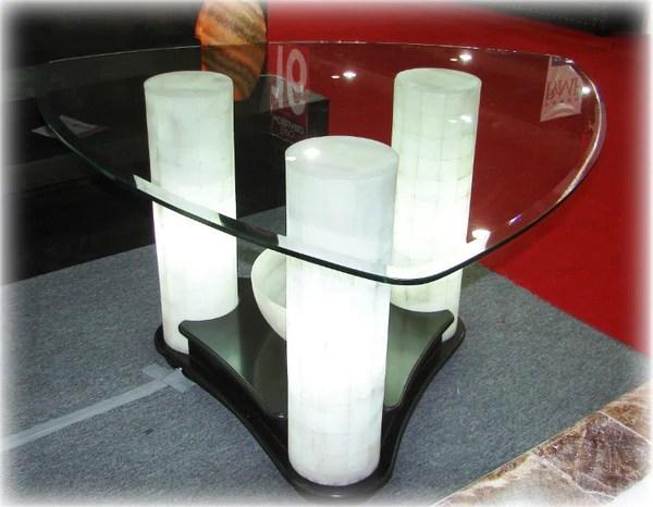 Mesa de onix triangular para comedor modelo C15  CG Muebles