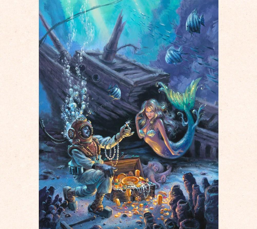 Unfathomable Proposal - Nautical Art Canvas Print Thor