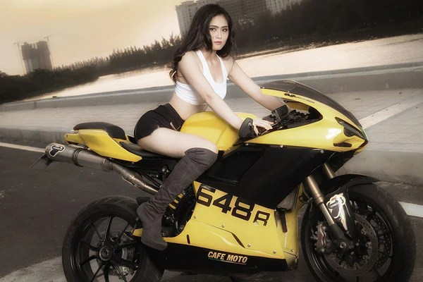 Anime Girls With Motorcycle Wallpaper Ducati 648 Motorcycle Asian Hot Girl Poster My Hot Posters