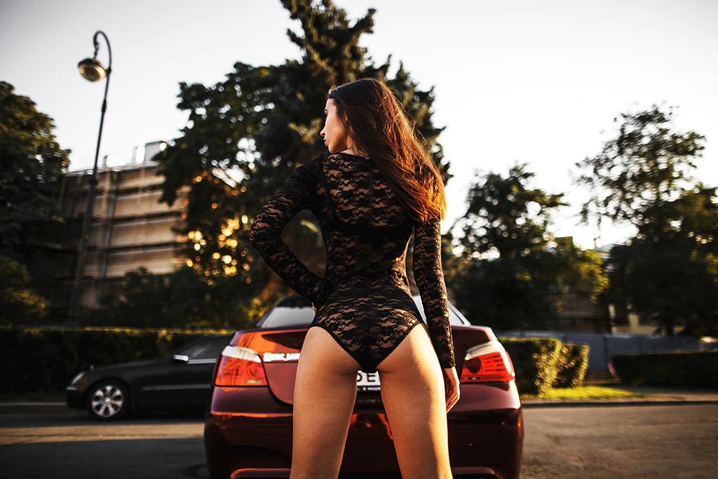 Girl And Sport Car Wallpaper Bmw M5 E60 Sexy Hot Girl Booty Poster My Hot Posters
