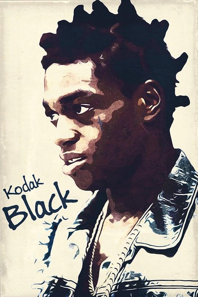 kodak black fan art poster