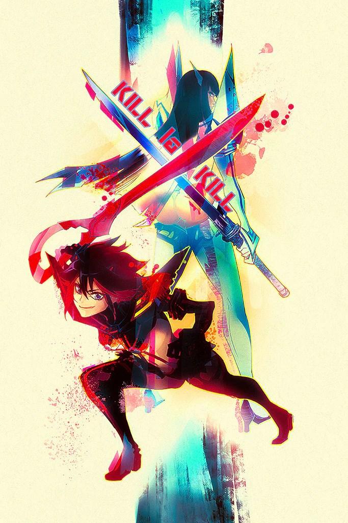 kill la kill if video game poster
