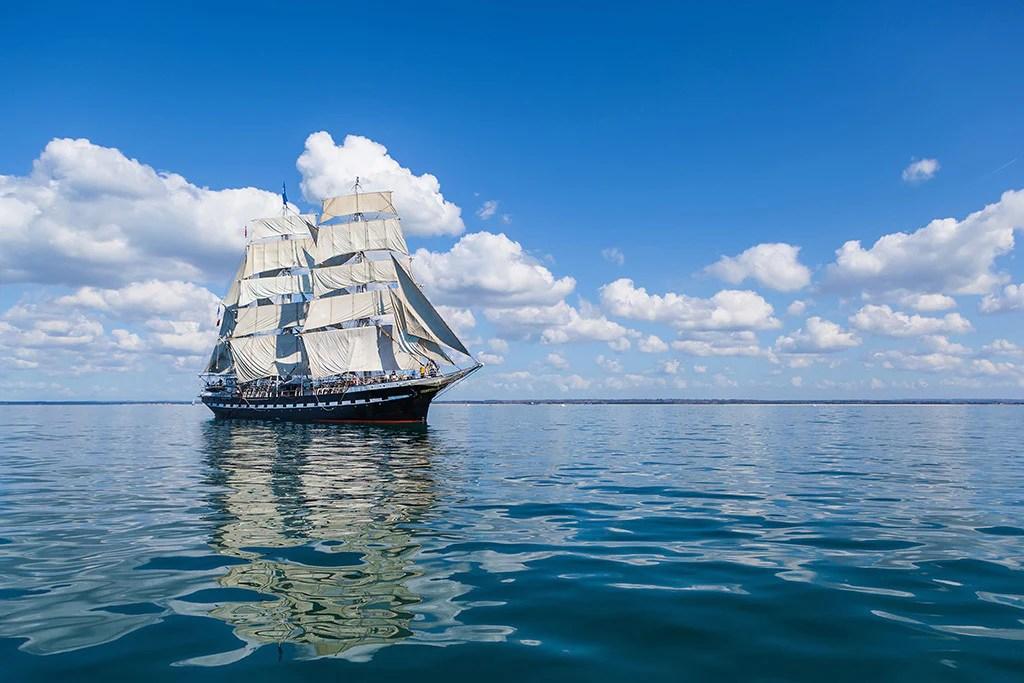 beautiful landscape sea ocean ship