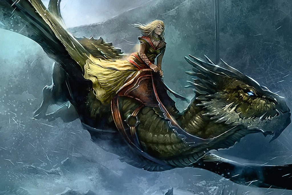 Girl With Sword Wallpaper Fantasy Dragon Gril A Song Of Ice And Fire Poster My Hot
