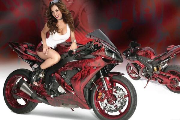 Girl Mustang Wallpaper Yamaha Yzf R1 Bike Hot Girl Poster My Hot Posters