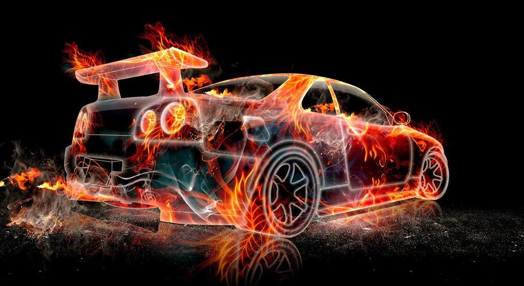 Drift Car Wallpaper Images Nissan Skyline Gtr R34 Flame Car Poster My Hot Posters
