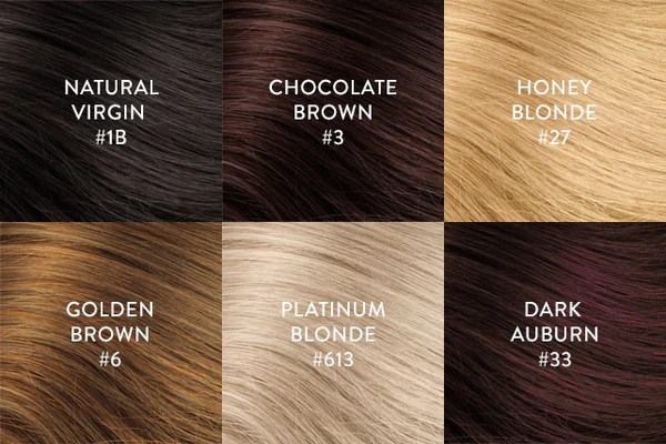hair extension color chart perfect