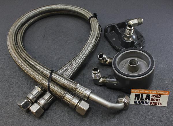 Omc King Cobra V8 350 5 7l 909491 985549 985550 Remote Oil Filter Adap Nla Marine